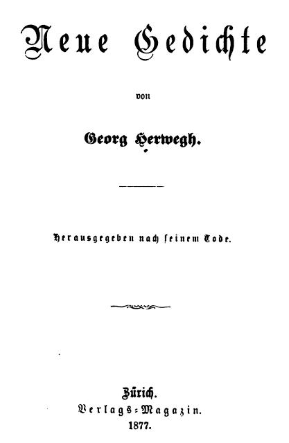 Georg Herwegh, La ballade du roi perdu
