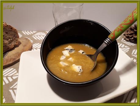 Velouté de Poireau, Patate douce et Gingembre