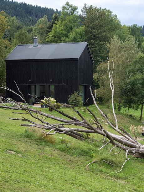 République Tchèque / Une grange devient un loft face à la montagne /