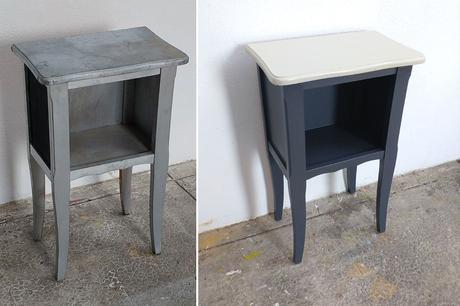 {DIY} Relooking d'une table de chevet – test peintures Mauler