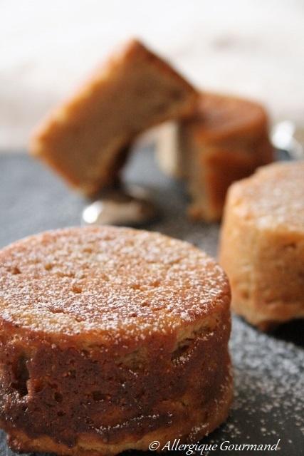 Petits gâteaux ricotta-citron bergamote { sans gluten, sans oeufs }