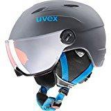 UVEX Casque de ski pour enfants Junior Visor Pro, Enfant, Uvex Junior Visor Pro, titanium-Blue mat