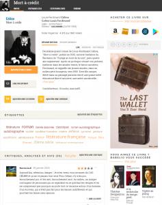 Babelio site pour livres