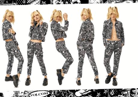 VOLCOM X GEORGIA MAY JAGGER : Une collection inspirée du streetwear des années 90