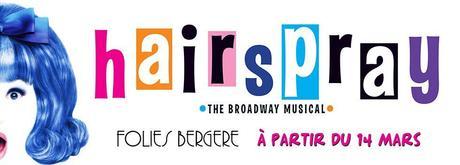 Hairspray aux Folies Bergère du 14 mars au 15 avril 2018 !