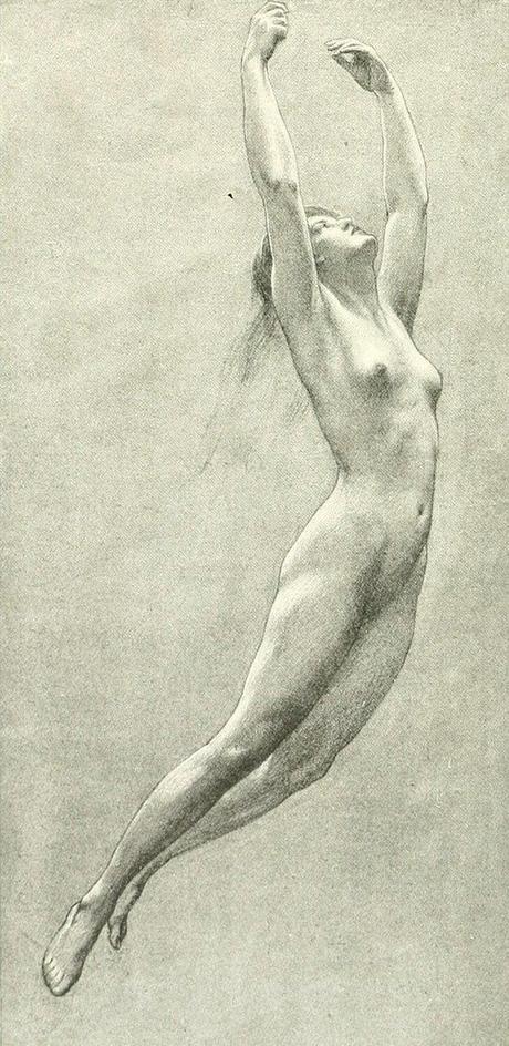 Herbert James Draper (1864-1920), Etude d'Iris pour le tableau