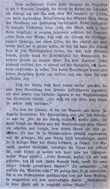 Quand la baronne Esperanza von Truchseß faisait livrer incognito des fleurs au roi Louis II