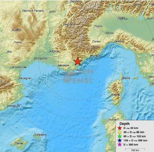 Tremblement de terre dans le Var et les AMaritimes