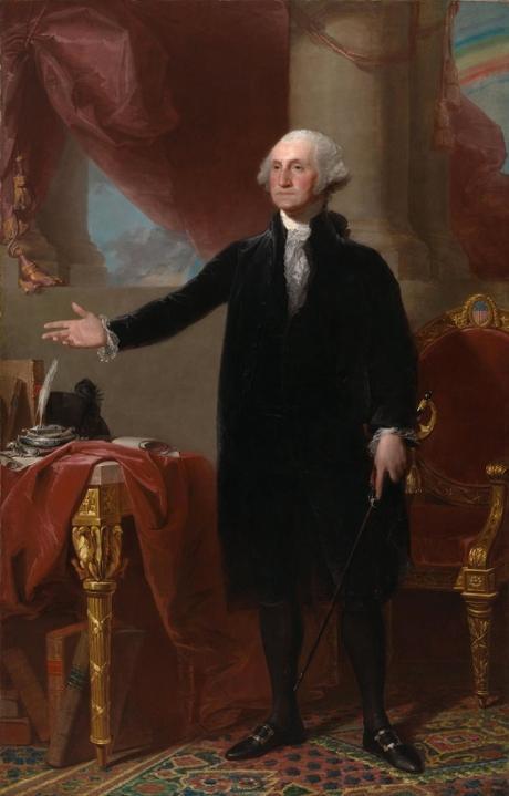George Washington (Gilbert Stuart) ; Gerald R. Ford (Everett R. Kinstler) ; George W. Bush (Robert Anderson)