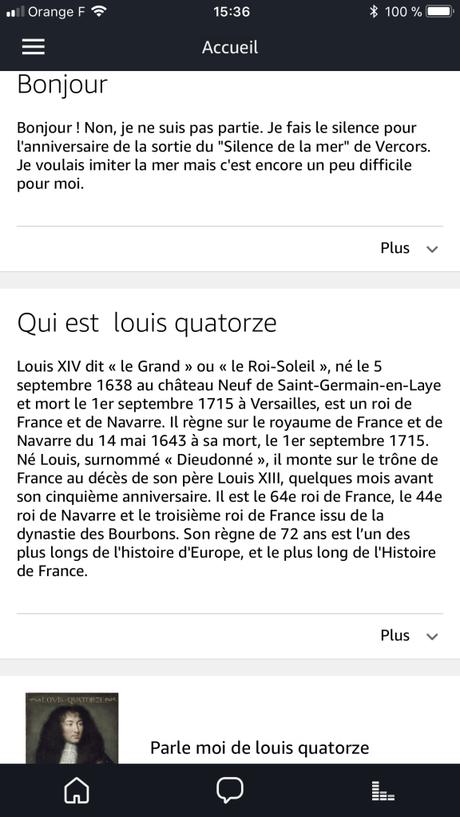 Amazon Echo Alexa France IOS