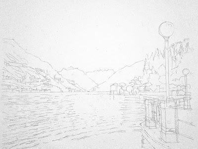 Le Lac de Lugano au printemps (Lombardie)