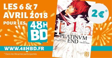 Le tome 1 du manga Platinum End à 2€ chez Kazé à l'occasion des 48H BD