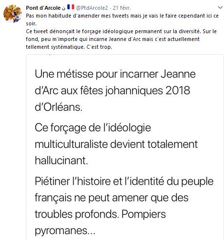 #JeannedArc #Orleans : les haineux de #Twitter poursuivis ? Joie.
