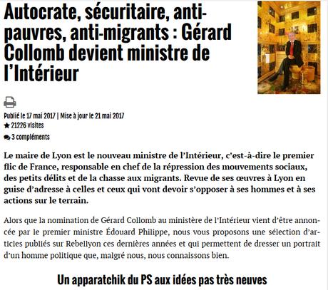 Où le #FN déclare sa flamme à #Collomb #LREM