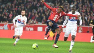 Les Lyonnais et les Lillois en action