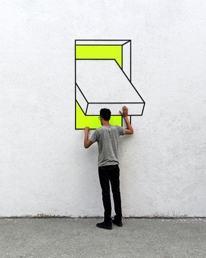 Illusions géométriques par Aakash Nihalani
