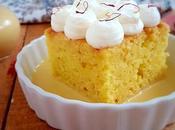 Gâteau trois laits safran