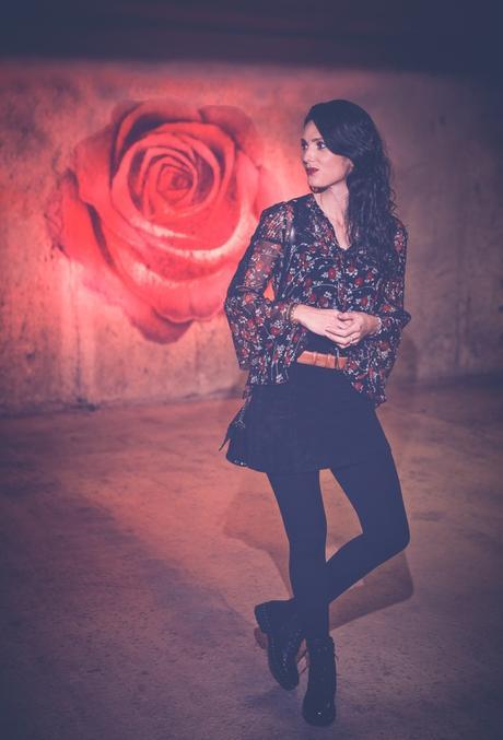 valentines rose : blouse transparente