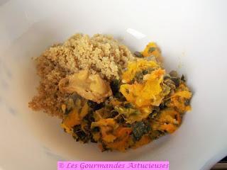Courge Turban farcie au poireau et au quinoa (Vegan)
