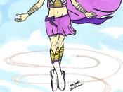 Dessin super héroïne couleur