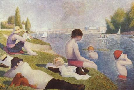 george-seurat,baignade-a-asnieres,painting,pointillisme,impressionism