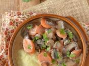 Polenta crémeuse, carottes champignons fumés