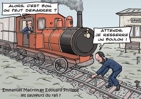 Macron et Philippe, les sauveurs du rail ?