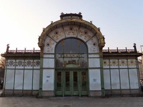 Vienne Wien art nouveau sécession otto wagner pavillon karlsplatz