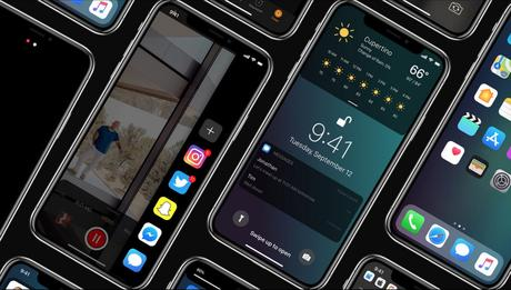Concept : iOS 12 sur iPhone