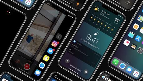 Concept : iOS 12 sur iPhone