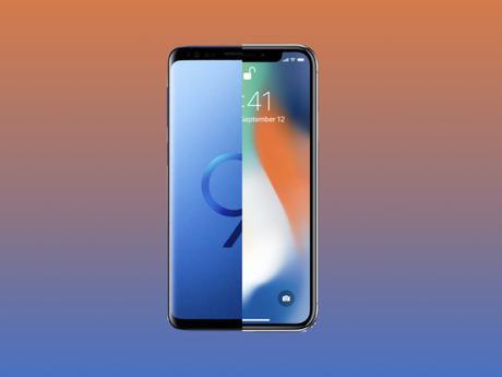 COMPARAISON SAMSUNG S9 ET IPHONE X