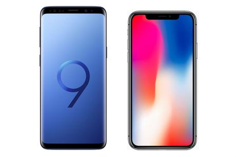 Image result for samsung s9 vs iphone x