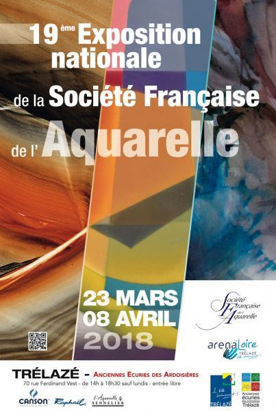 Exposition de la Société française de l'aquarelle à Trélazé