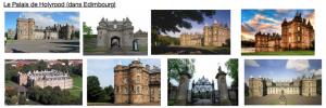 Le Palais de Holyrood (dans Edimbourg)