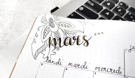 Bullet journal  #3  Mars, le printemps arrive !