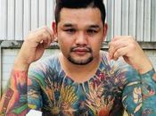 corps recouvert tatouages Dragon Ball