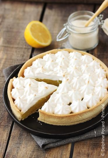 Recette bio : Tarte au citron meringuée bio vegan, sans beurre ni oeuf