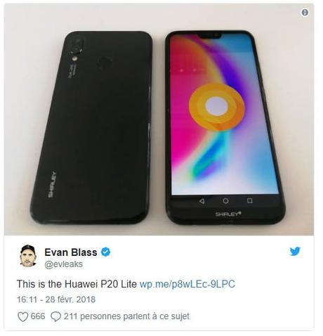Les fiches techniques des Huawei P20 Lite et du HTC U12 en fuite
