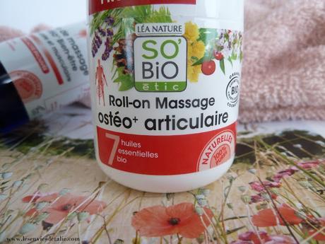 J'ai testé l'Huile de massage et le Roll-on massage de la gamme Osteo+ - So'Bio Etic