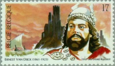 Beaux timbres wagnériens: Ernest Van Dijck (Belgique 1997)