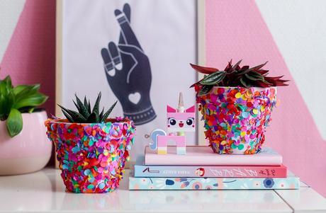 [ DIY ] Des Pots de Fleurs Confettis !
