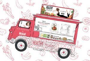 Le Healthy Truck Clarins by Michalak c'est aujourd'hui !