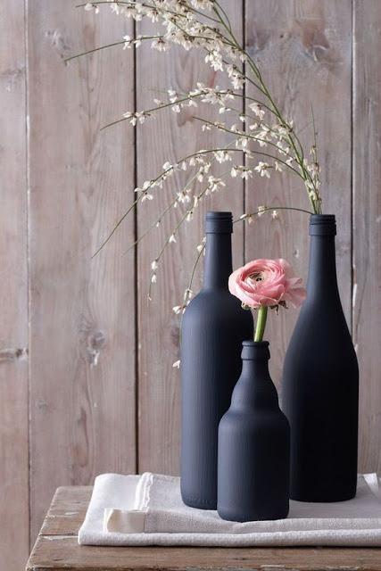 récupérer bouteilles pour faire des vases