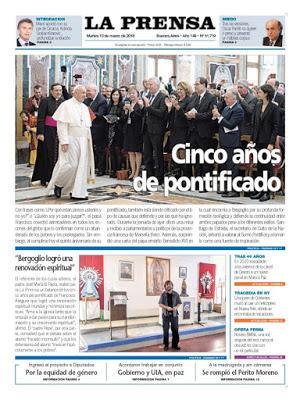 La Prensa fête les cinq ans de François à Rome [Actu]