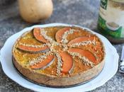 Quiche courge-curry-sésame orange