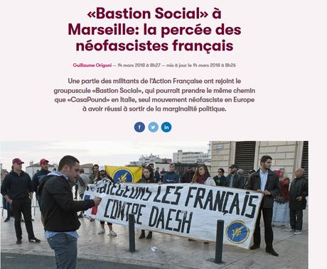 Où le #FN s'effondre, les fascistes français se radicalisent #antifa