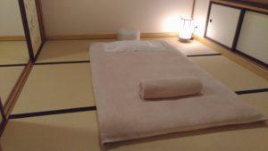 Visite d'une reconstitution en taille réelle d'un traditionnel ryokan en plein Paris, le Spa Suisen