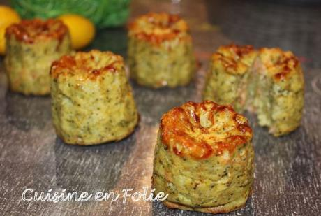 Cannelés brocolis et parmesan
