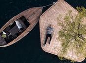 DESIGN flottante avec seul arbre port Copenhague