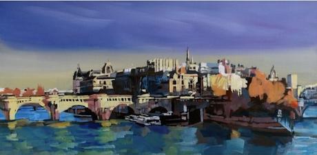 tableau peinture kazoart le pont neuf paris